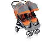 Baby Jogger City Mini Double Stroller - Orange/Grey