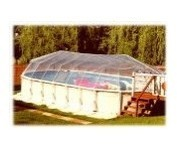 18' X 44' Oval Above Ground Swimming Pool Solar Sun Dome Cover Heater Sundome 32 Panels