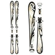 K2 T:Nine First Luv Womens Skis with ERP 10.0 Bindings 2011