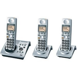 PANASONIC KX-TG1033S DECT 6.0 SERIES CORDLESS PHONE SYSTEM WITH ANSWERING SYSTEM
