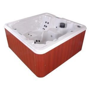 QCA Spas Palmero Silver Marble 7 Person, 53 Jet Spa with (2) 4 HP Pumps, Features an LED