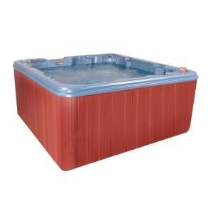 QCA Spas Cypress Blue Denim 8 Person, 40 Jet Spa with 4 HP Pump, Features an LED Light, and a Dura-Frame Cabinet