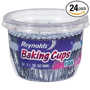 Reynolds Baking Cups, Foil, 32-Count (Pack of 24)