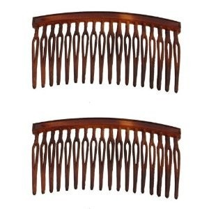 Caravan Your Hair Will Stay In Place With These Wire Twist Tortoise Shell Combs Pair