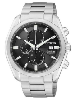Citizen Eco-Drive Chronograph Titanium CA0021-53E CA0020-56E Mens Watch