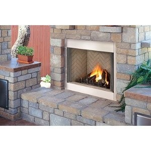 Lennox Hearth H4641 42 Inch Elite Stainless Outdoor Ventle Gas Fireplace - ...